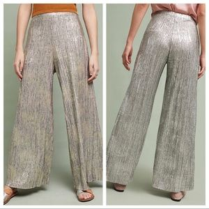 Anthropologie Pants - Anthropologie Elevenses Glistening Wide Leg Pants